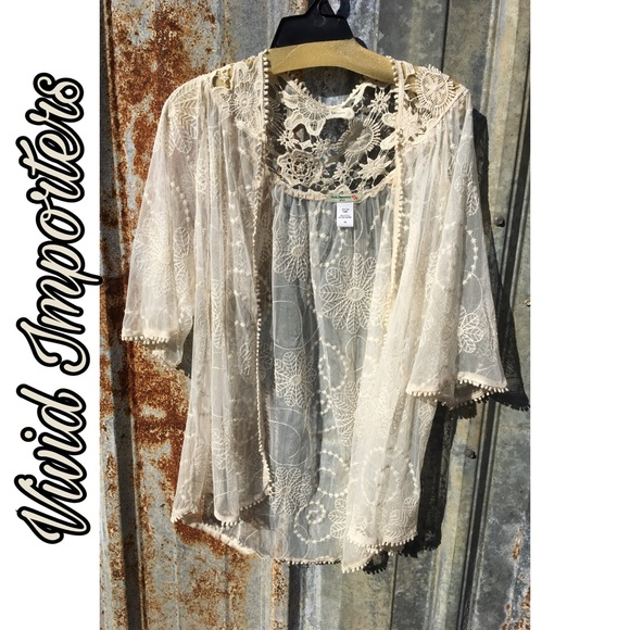 Vivid Importers Lace cardigan